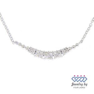 Cluster Diamond Curved Layered Necklace